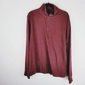 J Crew half zipper red maroon sweater size large